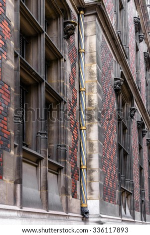 Fragments of old houses in Paris. - stock photo
