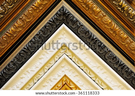 fragments of picture frames - stock photo