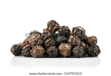 fragrant spices isolated on a white background. Studio. Photo - stock photo