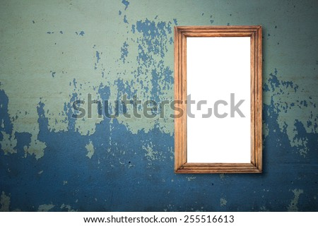 Frame at the concrete wall with clipping path for the inside - stock photo