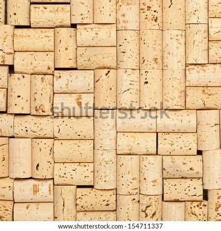 Frame filling blank wine corks background texture - stock photo