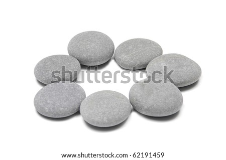 frame for natural flat stones - stock photo