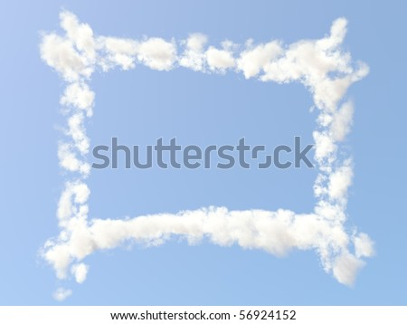 Frame formed from clouds - stock photo
