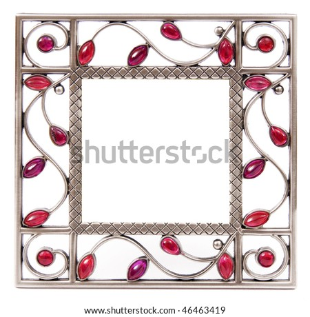 frame isolated on the white background - stock photo