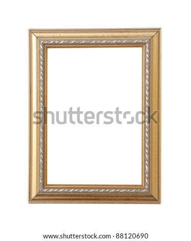 Frame isolated on white - stock photo