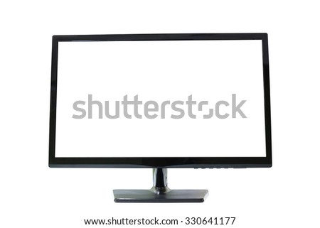 Frame LED computer screen (monitor) on white background and have clipping paths. - stock photo