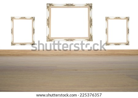 Frame Louis White  blank  - stock photo