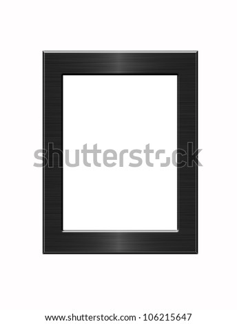 frame metal isolated - stock photo