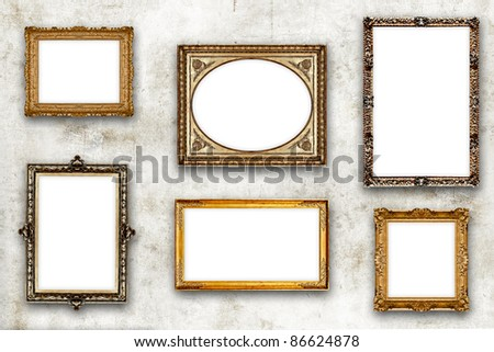 Frame Mix old - stock photo
