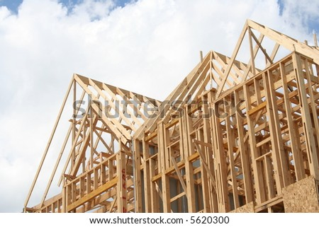 Frame house stock photos images pictures shutterstock for House framing 101