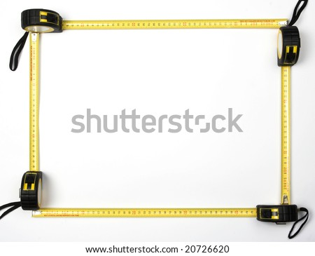 frame of four measure tapes - stock photo