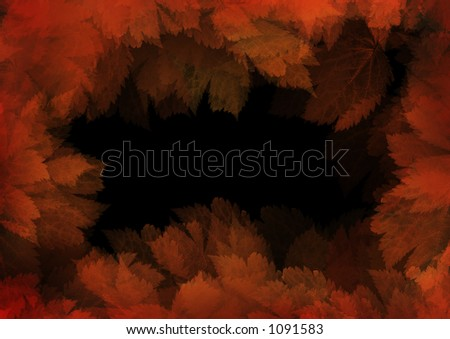 Frame of leaves. High resolution! - stock photo