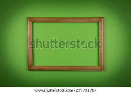 Frame on green background - stock photo
