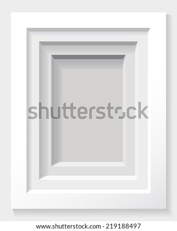 Frame on the wall as a background (raster version). - stock photo