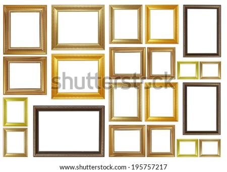 frame on the white background - stock photo
