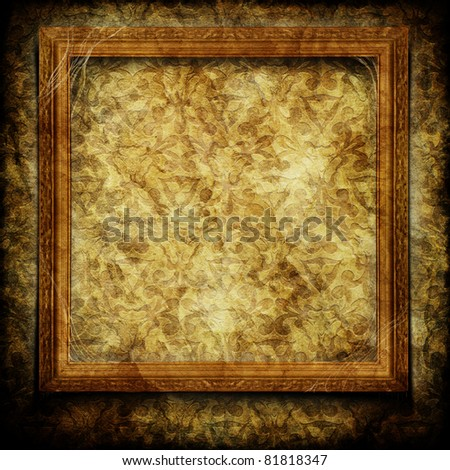 Frame on wall - stock photo
