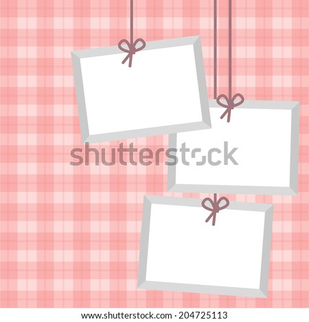 Frame white rope hanging on the wall colorful stock photo