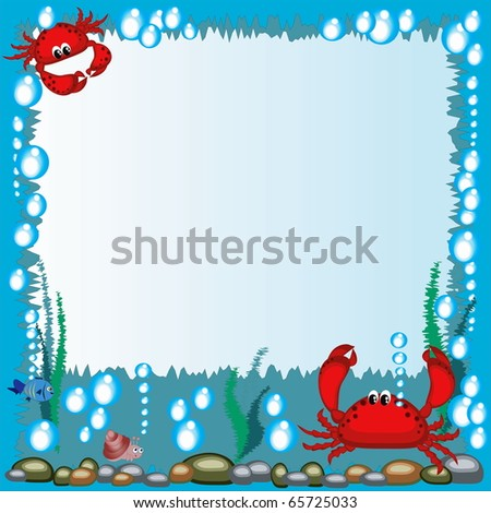 Frame with crabs - stock photo