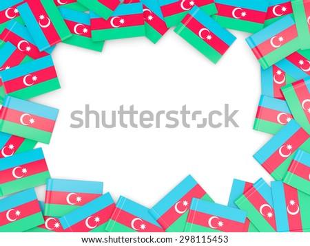Frame with flag of azerbaijan isolated on white - stock photo