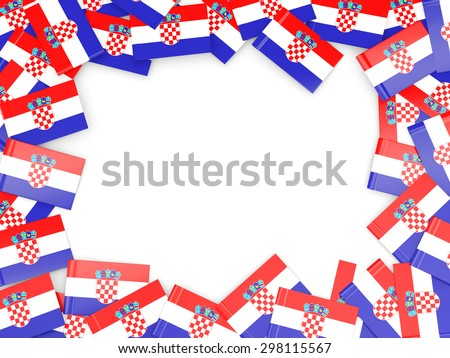 Frame with flag of croatia isolated on white - stock photo