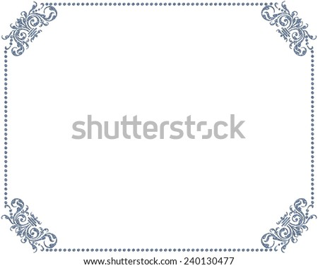 Frame with ornaments. - stock photo