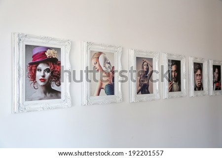 frames and pics - stock photo