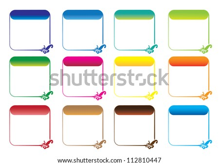 Frames - calender - stock photo
