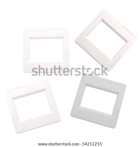 Frames for a photos - a slides  isolated on a white background - stock photo
