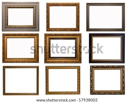 Frames of Baget isolated on white - stock photo