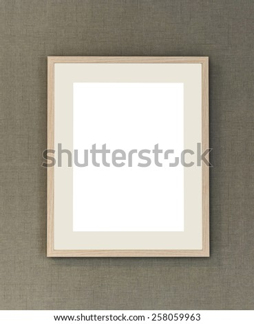 Frames on the wall - stock photo