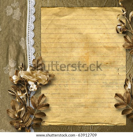Framework for a photo or congratulation. Abstract floral background. - stock photo