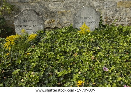 France, Auvers sur Oise, tomb of Van Gogh - stock photo