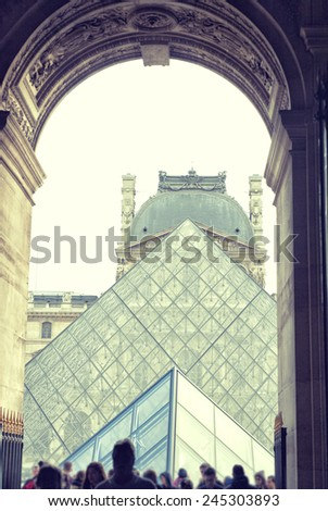 france background Louvre - stock photo