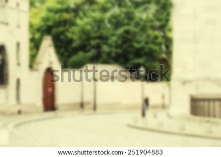 France blur background Paris - stock photo