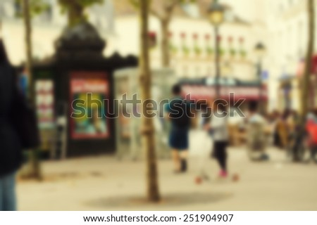 France blur background Paris - stock photo