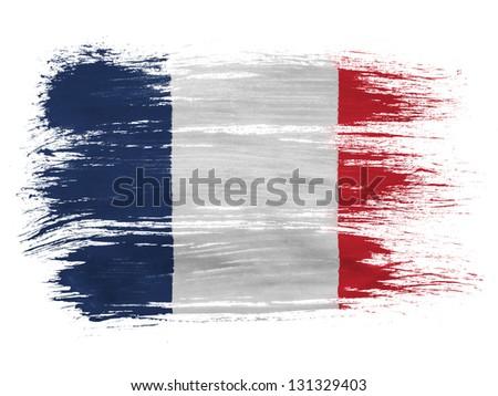 France. French flag  on white background - stock photo
