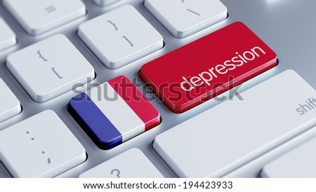 France High Resolution Depression Concept - stock photo