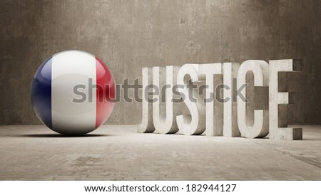 France High Resolution Justice Concept - stock photo