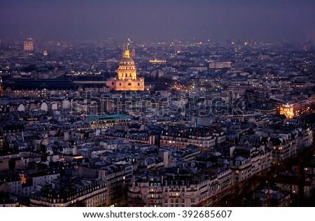 France Paris, Eiffel Tower - stock photo