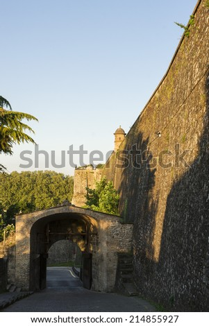 France Portal in the Pamplona Walls. St. James Way. Spain.  - stock photo