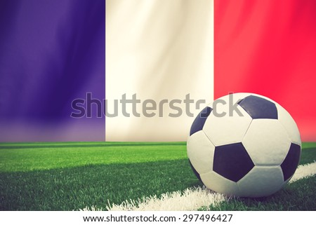 France soccer ball vintage color - stock photo