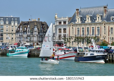 France, the picturesque city of Trouville in Normandie - stock photo