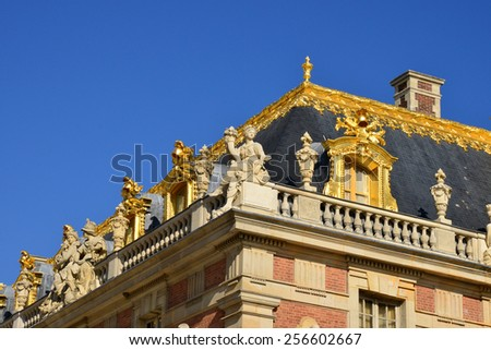 France, the Versailles Palace in Ile de France - stock photo