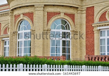 France, Villa le Cercle in Deauville in Normandie - stock photo