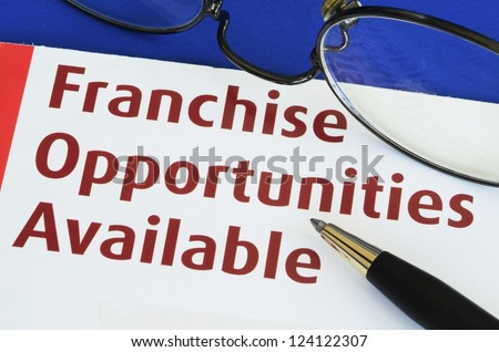 Franchise opportunities concept of new business opportunities - stock photo