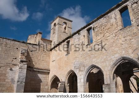 Franciscan monastery of Cloitre des Cordeliers, Saint-Emilion (France) - stock photo