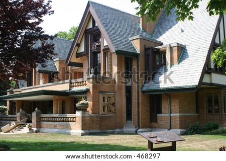 Frank Lloyd Wright Moore-Dugal residence - stock photo