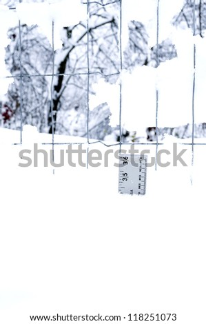 Frankenstorm snow resulting from Hurricane Sandy producing a superstorm, Webster County, West Virginia, USA - stock photo