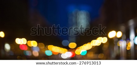 frankfurt am main night blur background - stock photo