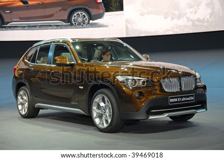 FRANKFURT - SEP 20: BMW X1 Xdrive23d Efficient Dynamics on 63rd IAA (Internationale Automobil Ausstellung) on September 20 - stock photo